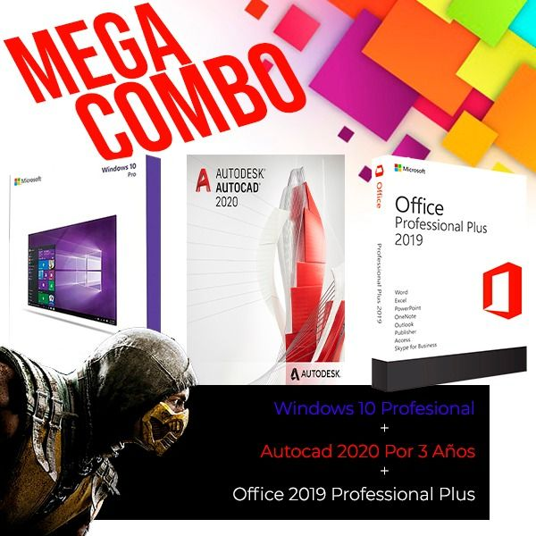 Windows-10-Professional-+-Autocad-2020-Por-3-Años-+-Office-2019-Professional-Plus