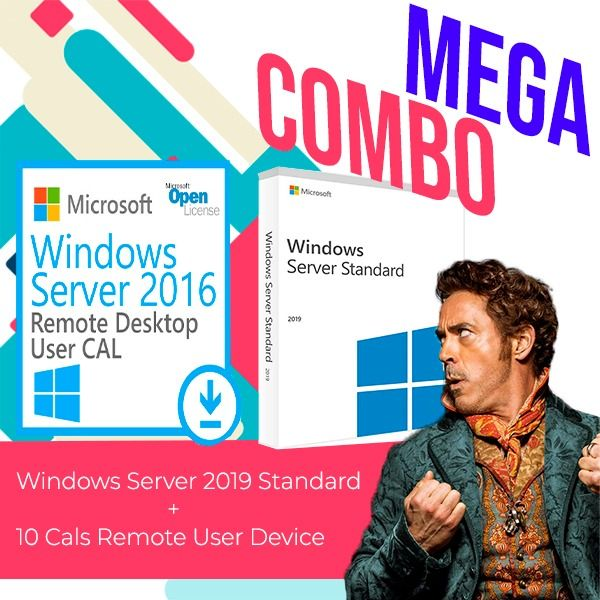 Windows-Server-2019-Standard-+-10-Cals-Remote-User-Device